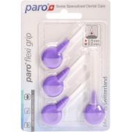 Periuta interdentara Paro Flexi Grip large, violet, cilindrice, Ø 8.0 mm, 4 buc #1077